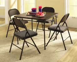 5 piece card table set sears cosco 5 piece card table set 52 99 coupons 4 utah