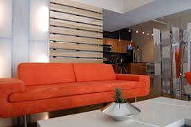 Living Room Divider Ideas Living Room Divider Ideas View In Gallery Wooden Slats Red Sofa