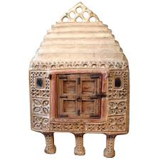 Food Storage Cabinet Antique Early Indian Papier Mache Food Storage Cabinet Eron