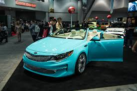 new peugeot convertible 2016 convertible 2016 kia optima concept heads to sema