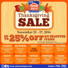 check out cw home depot thanksgiving sale enjoy discounts up to