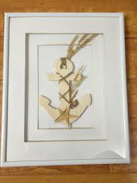 nautical home decor u2013 framed anchor picture with starfish u2013 vesna
