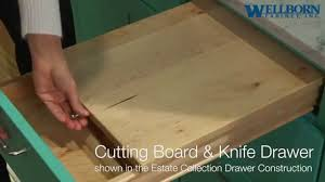 storage solutions cutting board and knife drawer estate
