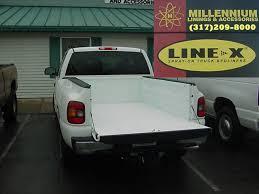 white truck bed liner line x custom white color match bedliner millennium linings