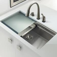Large Single Bowl Kitchen Sink by Houzer Nvs 5200 Novus Series Dual Level Undermount Stainless Steel Lar