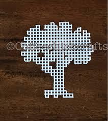 plastic canvas tree cutout https www etsy com listing 526859549