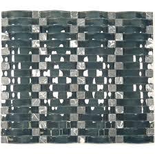 weave blue glass u0026 stone weave tile glossy cg08