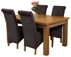 Dining Room Furniture Seattle Seattle Solid Oak 150cm 210cm Extending Dining Table With 4