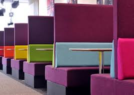 Banquette Booth Seating Used For Banquette Office Seating High Back Breakout Seating Booth Seating
