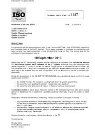 quotation mail format to customer borrador nueva iso 9001 2015