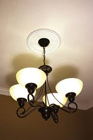 Medallion For Light Fixture Easy To Install Ceiling Medallions How To