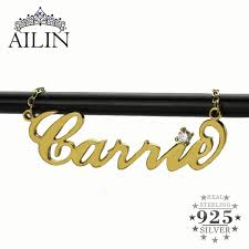 Carrie Name Necklace Aliexpress Com Buy Freeshipping Personalized Name Necklace Gold