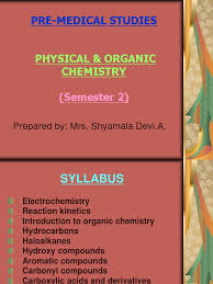 syllabus physical u0026 organic chem pre med sem 2 ester