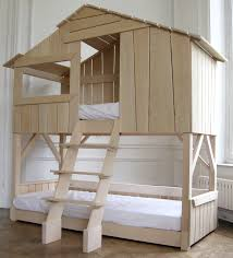 Lit Bed Up Kids Treehouse Bunkbed In Natural Pine U0026 Mdf Projects To Try