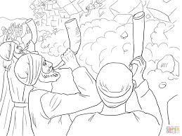 walls of jericho falling coloring page free printable coloring