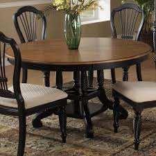 hillsdale wilshire round two tone leaf dining table westrich