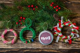 simple and festive mason jar ornaments in 20 minutes or less