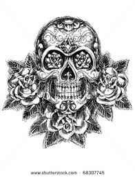 collection of 25 skull and guns design