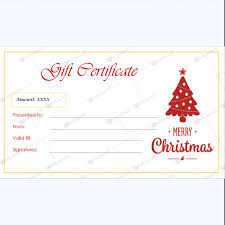 christmas gift certificate template 38 word layouts
