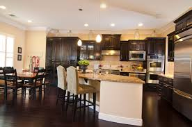 Kitchen With Brown Cabinets Kitchen Kitchen Cabinets Light Wood Smooth Square White Leather
