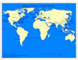 Dubai On World Map File Major Ports Of The World Png Wikimedia Commons