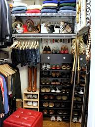 black wooden shoe shelves with drawer combined with hanging