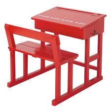 scrivanie per bambini piccola scrivania rossa per bambini maisons du monde