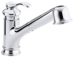 Kitchen Pull Out Faucets by Kohler K 12177 Cp Fairfax Single Control Kitchen Sink Faucet