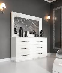 White Bedroom Dressers And Chests Carmen White Modern Bedrooms Bedroom Furniture