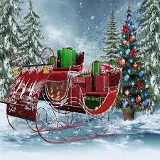 x 10 u0027 santa sleigh backdrop