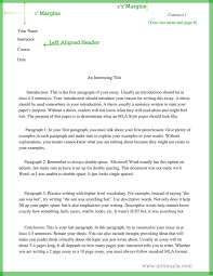 sample essay in mla format the basics of mla style mrs nayla example of mla style essay page