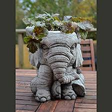 garden ornaments by onefold an9 elephant pot garden planter