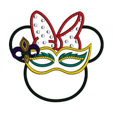 mardi gras embroidery designs like minnie wearing mardi gras mask applique machine embroidery