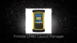 trimble lm80 layout manager youtube