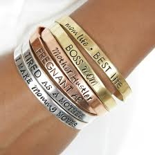 make silver bracelet cuff images Mother 39 s mantra bracelet cuffs jpg