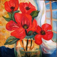 expressionist oil paintings of flowers the hawks perch