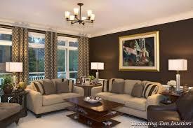 livingroom in living room brown walls centerfieldbar