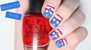 patriotic nail art tutorial youtube