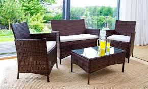 Garden Patio Furniture Sets Rattan Effect Garden Furniture Astonishing Rattan Table And Chairs