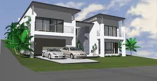 best slope block home designs contemporary decorating design