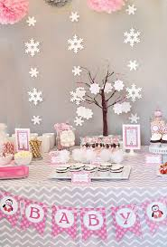 backdrop for baby shower table cozy pink penguin winter wonderland baby shower winter babies