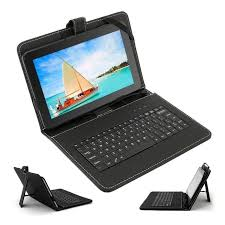 android tablets with keyboards 10 1 9 7 inch micro usb leather keyboard stand cover for