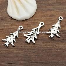 custom die cast metal christmas ornament silver metal xmas tree