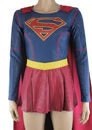 halloween costume with cape amazon com supergirl costume halloween puffy paint jumpsuit with