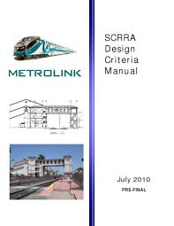metrolink scrra design criteria manual transport