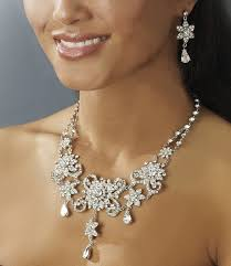 crystal bridal necklace sets images Elegant vintage crystal collar jewelry set wendy 39 s bridals jpg