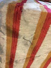 Silk Drapery Fabric By The Yard Faux Silk Striped Quilting Craft Fabrics Ebay
