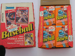 baseball trading cards boxes and unopened packs baseball cards by