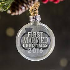 personalized wedding christmas ornament married christmas ornament personalized