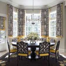 dining room bay window treatments curtains for bay windows in